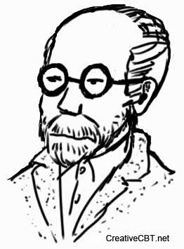 Sigmund Freud sketch - famous psychotherapists - Galaxy Note II