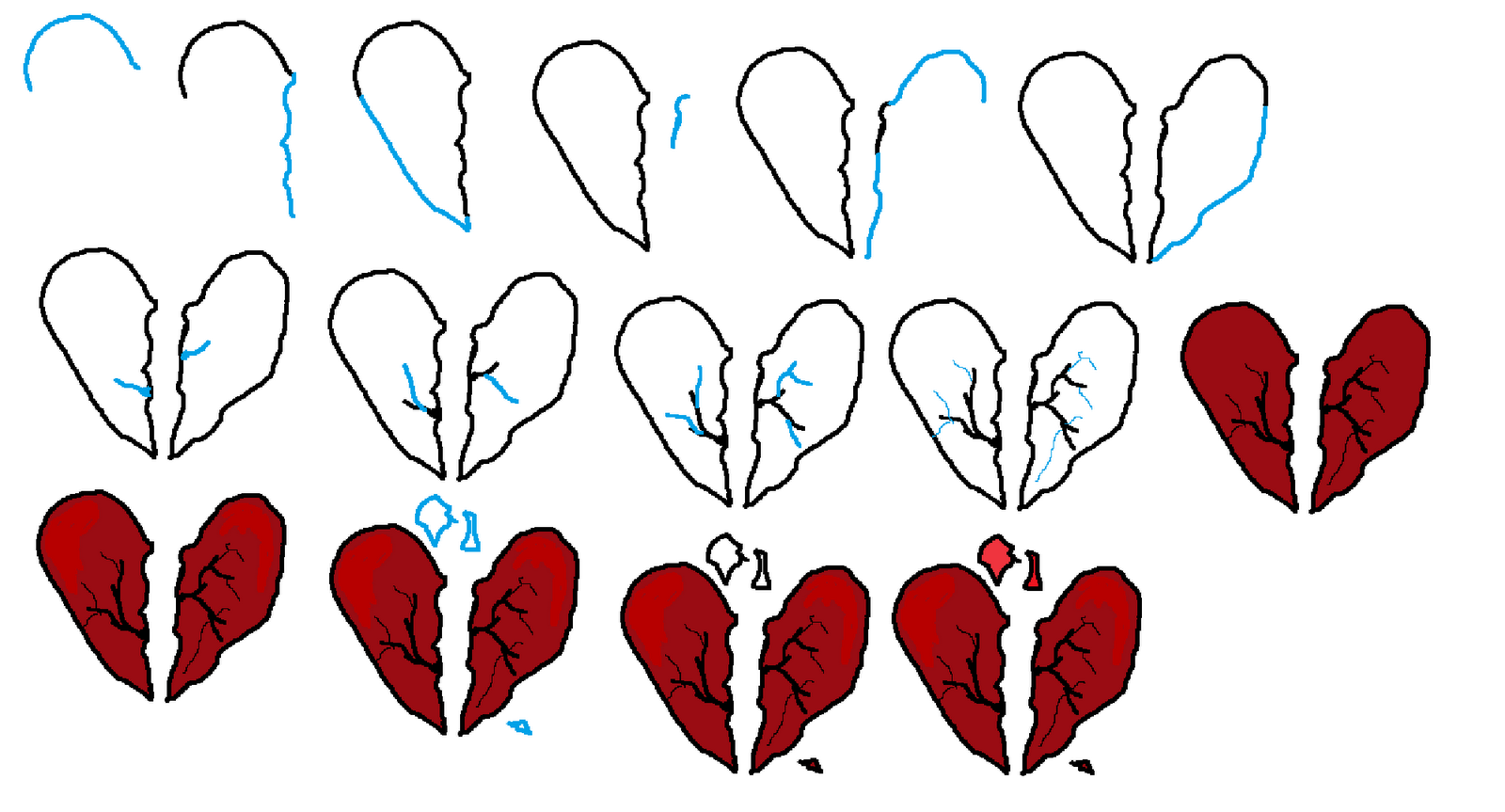 how-to-draw-a-broken-heart pngHow To Draw A Broken Heart Step By Step