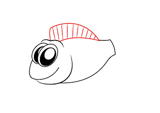 How To Draw A Cartoon Fish Step 3