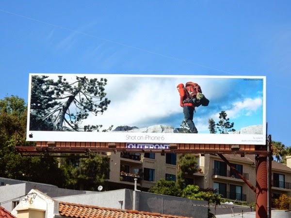 Shot on iPhone 6 Julian B hiking billboard