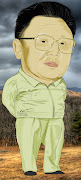 Kim Jong Il. The 'great' leader for a North Korea projectanother working . (with bk ground)