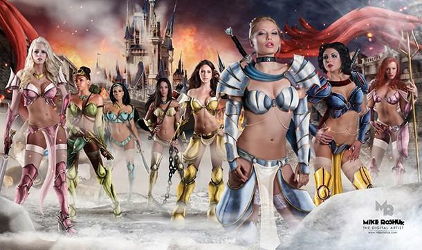 disney princesses as sexy warriors