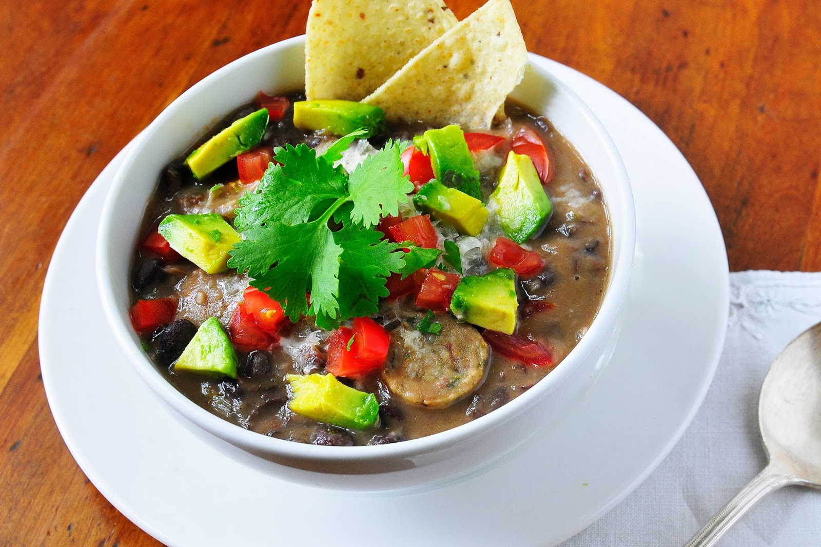 Simply Gourmet: Easy Black Bean and Sausage Soup