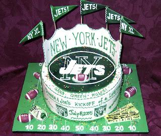 NY Jets grooms cake
