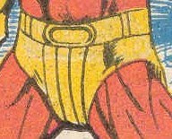 Sun Boy's crotch has a racing stripe. Between this and Garth's diaper, the 30th Century looks really kinky.