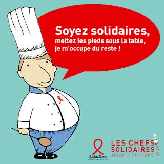 """Sidaction et """" Les Chefs Solidaires """""""