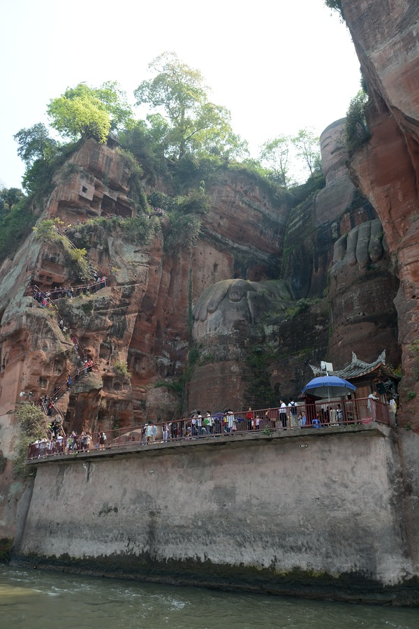 Leshan Giant Buddha from the river