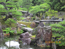 Stone garden and bridges, Kinkaku-Ji Temple, Kyoto, Japan