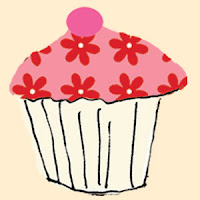 cupcake pink red greeting cards stationery designers Liz and Pip Ltd