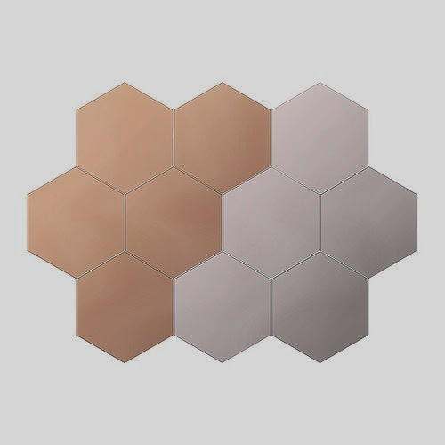 espejo autoadhesivo poligonal ikea