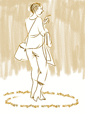 The employment agent from Toulouse is a gesture drawing by Artmagenta