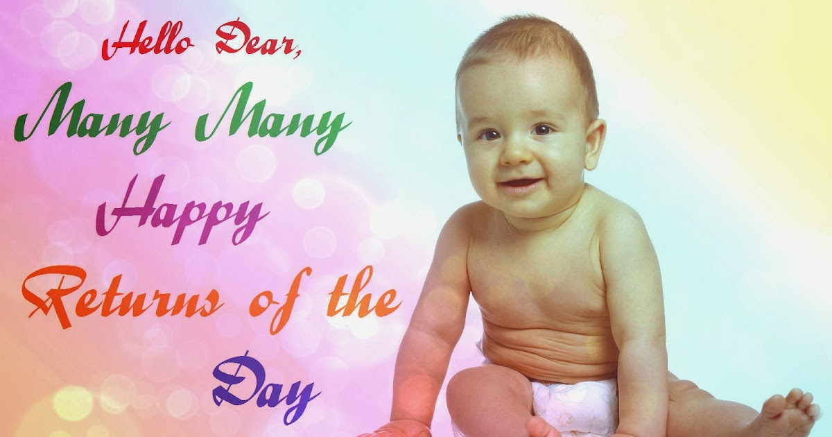 little cute baby birthday wishes cards best greetings