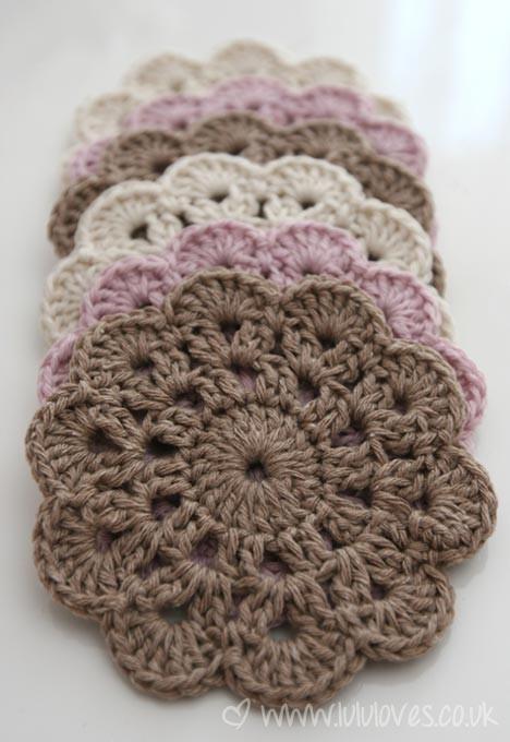 Free Online Crochet Patterns For Coasters : I love Crochet - Deco & Living