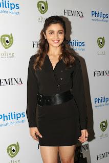 Alia Bhatt in Black Short Dress Beautiful Lovely Pics at Femina Magazine Launch