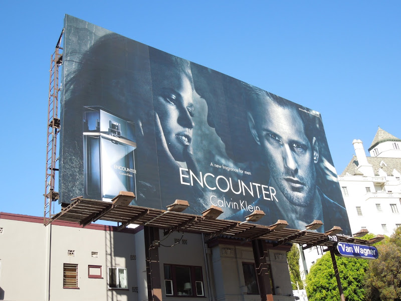 Alexander Skarsgard Calvin Klein Encounter fragrance billboard