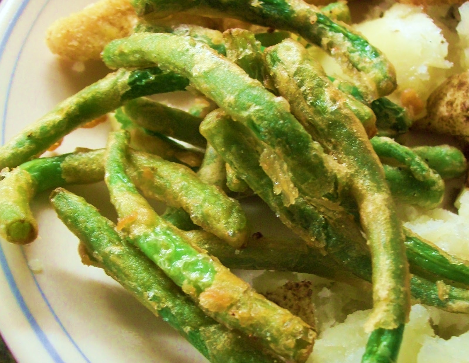 fried green beans 1 lb fresh green beans with ends