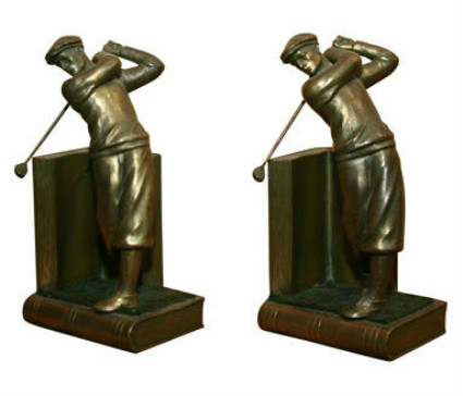 Pair of Bookends: Golfers