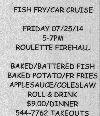 7-25 Fish Fry/Car Cruise--Roulette
