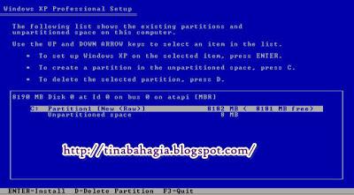 12. Enter untuk melanjutkan… Pilih Quick NTFS seperti gambar