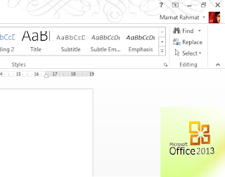 Menampilkan Office Background Pada Office 2013