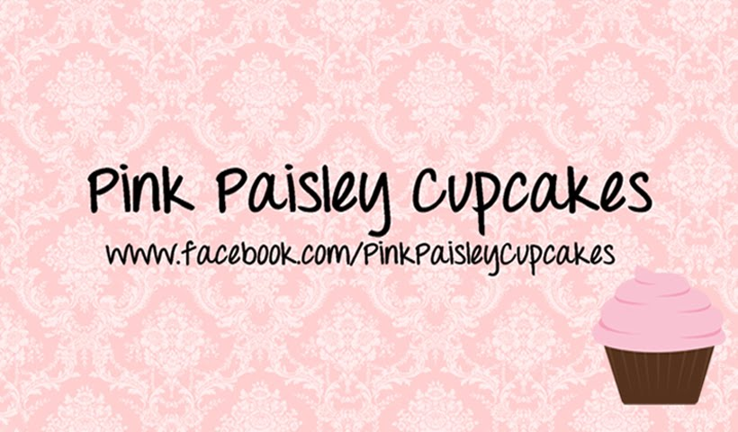 Pink Paisley Cupcakes