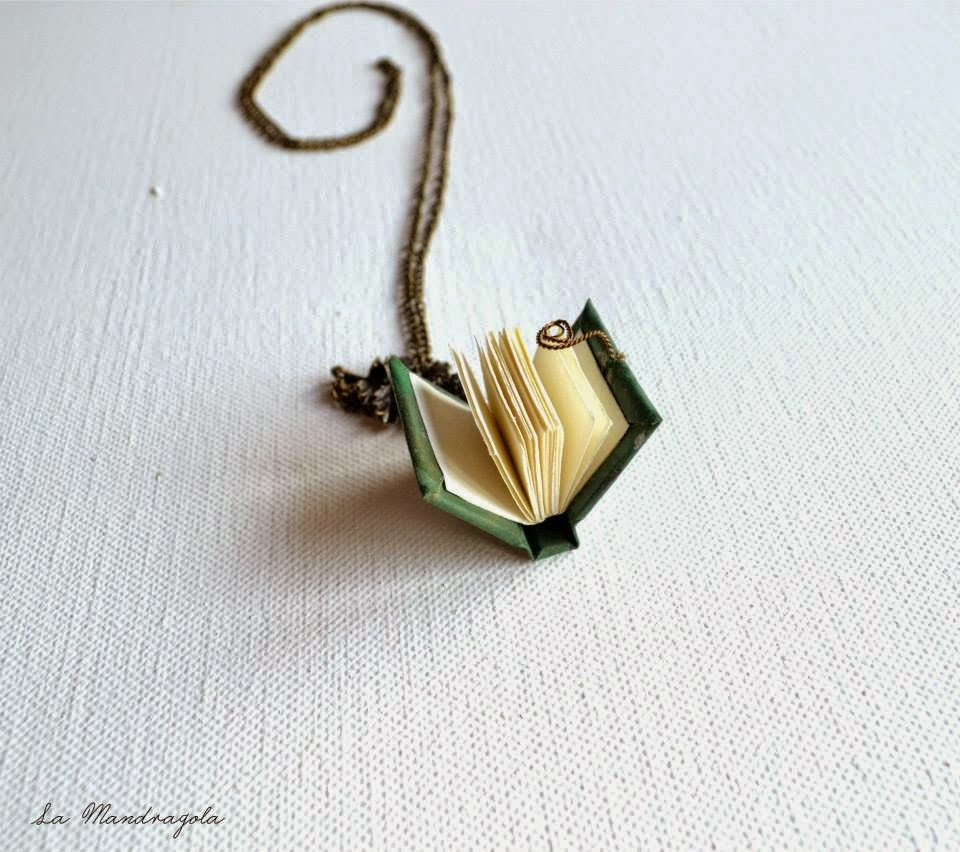 book-necklace-handmade-hobbit-fantasy-jewelry-green