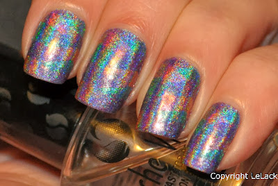 fishtail braid nails holographic