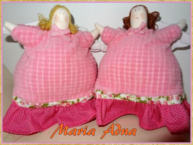 Anjos em tedido, Bonecos em tecido, textile angels, textile dolls, textile toys