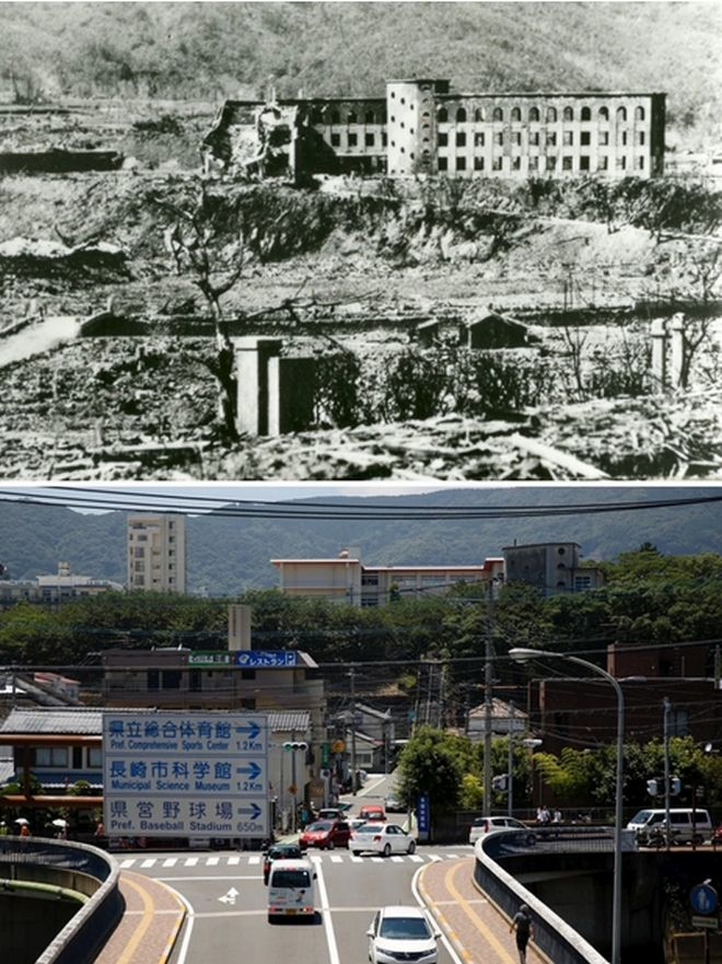 Hiroshima Then And Now You Won't Believe What It Looks Like Today! - Shiroyama National School In Nagasaki