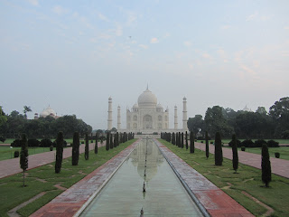 Taj Mahal in the morning for sunrise