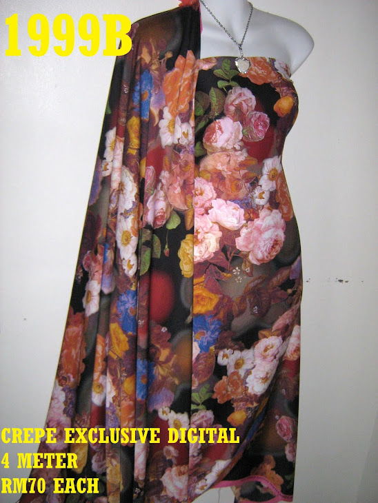 CP 1999B: CREPE EXCLUSIVE DIGITAL PRINTED, 4 METER