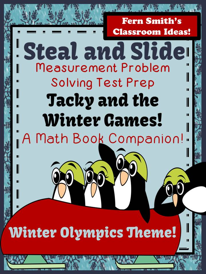 Fern Smith's FREE Tacky and the Winter Games Steal and Slide Test Prep A Math Book Companion
