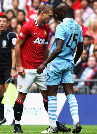 Vidic vs Balotelli Manchester United v Manchester City Community Shield