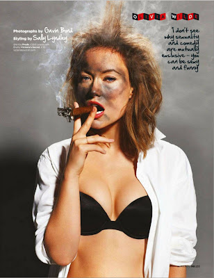 American Actress Olivia Wilde GQ UK On Magazine April 2012