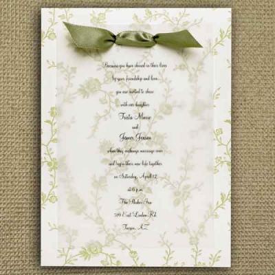 purple and sage green wedding invitations