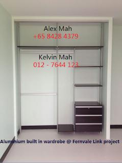Master Bedroom Aluminium Wardrobe Half Complete