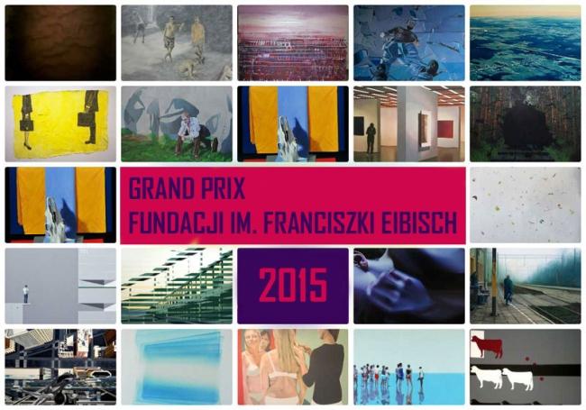 Plakat reklamowy konkursu o Grand Prix Fundacji im. Franciszki Eibisch 2015