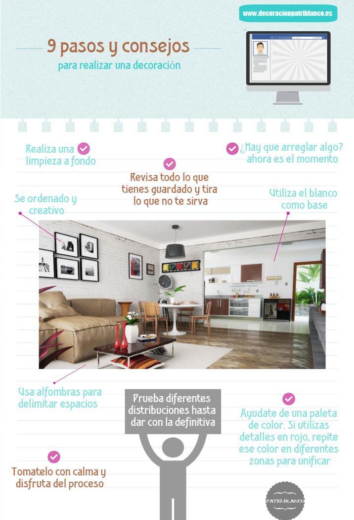 Infografía - 9 pasos para decorar