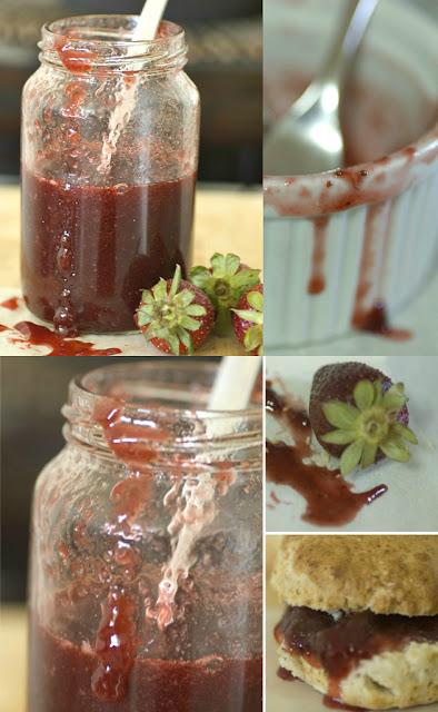 סקונס וריבת תותים