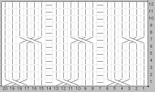 Схема узора; 4. Булавка; 5.