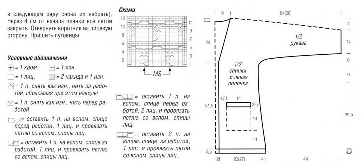 фото схемы и выкройки вязанного пальто.  21 cr 210x97 Пальто с ромбами.