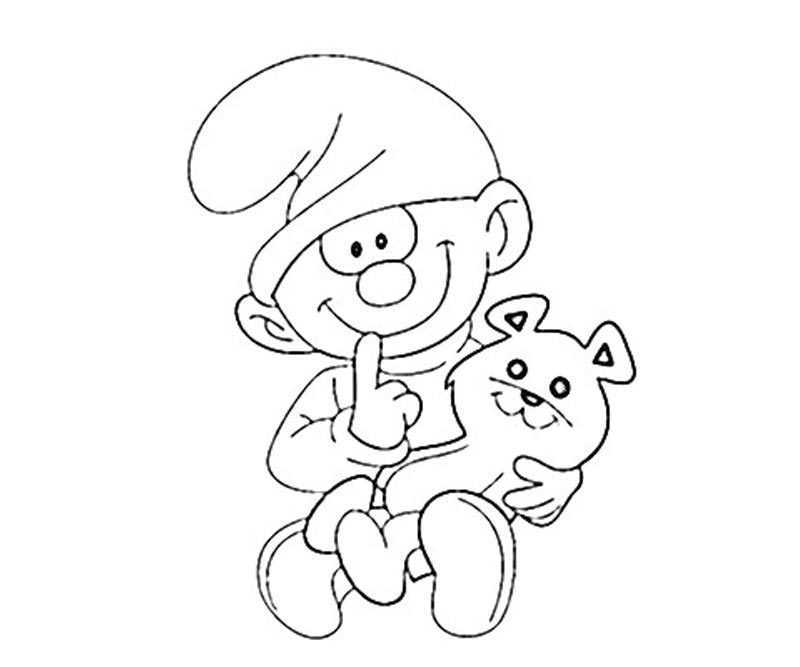 #20 Clumsy Smurf Coloring Page