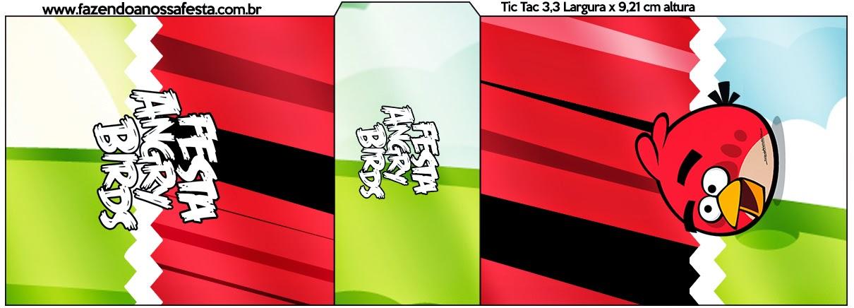Etiqueta para Tic Tac de Angry Birds.