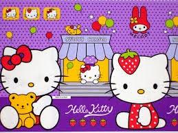 Gambar Wallpaper Hello Kitty Ungu Lucu Terbaru
