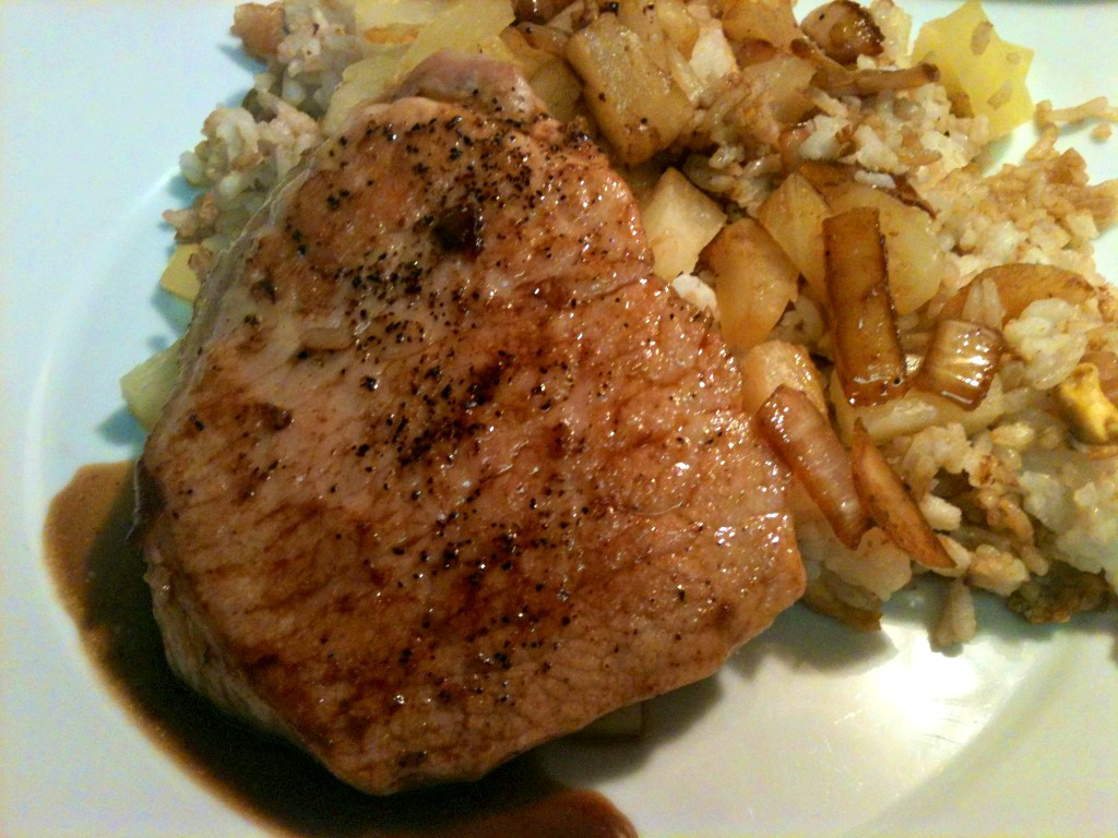Sewright: Thin Pork Chops with Pineapple Fried Rice