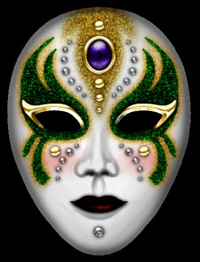 Máscara Carnaval PNG - Mistério green gold