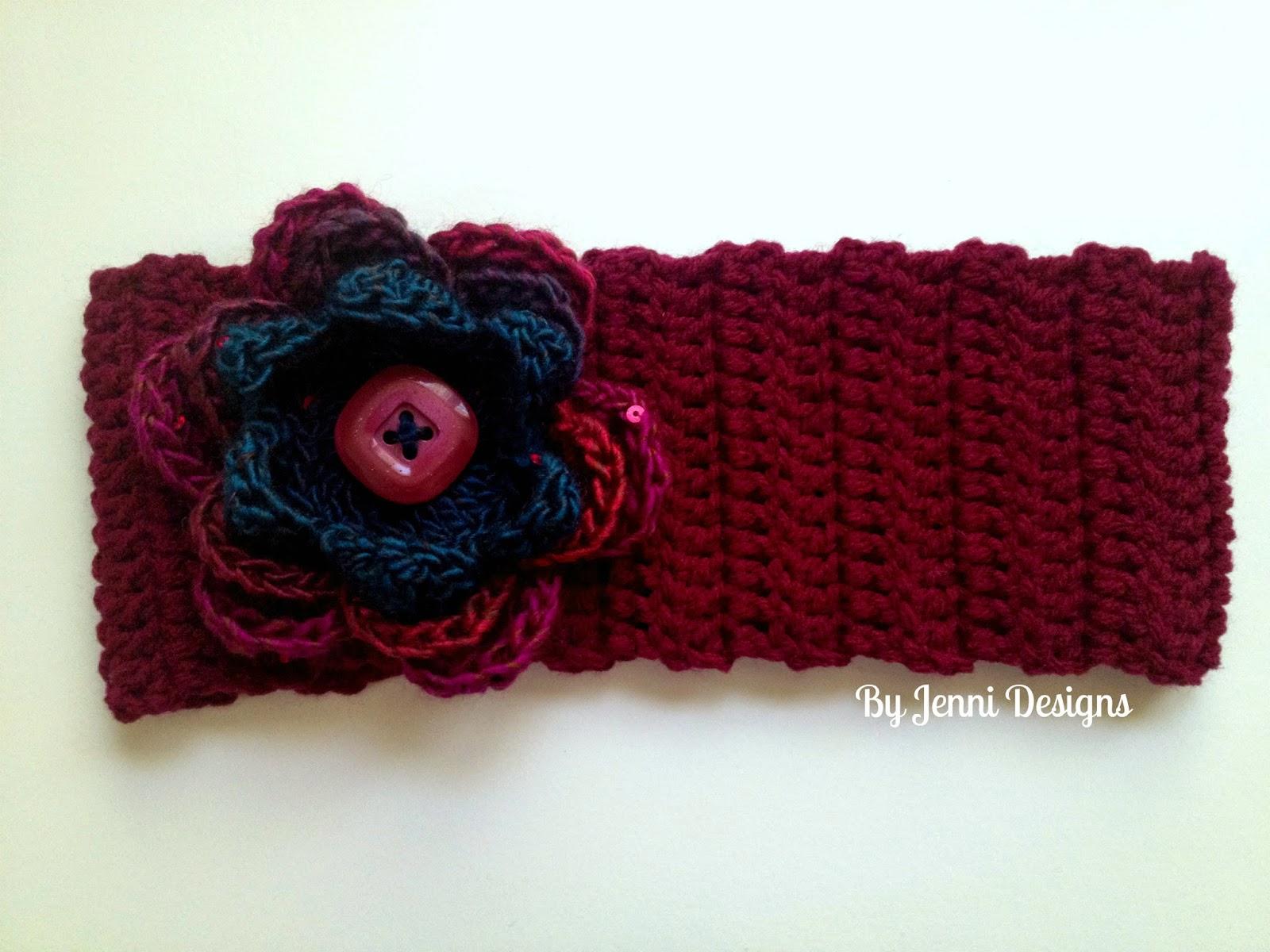 By Jenni Designs: Free Crochet Pattern: Large Flower Ear ...