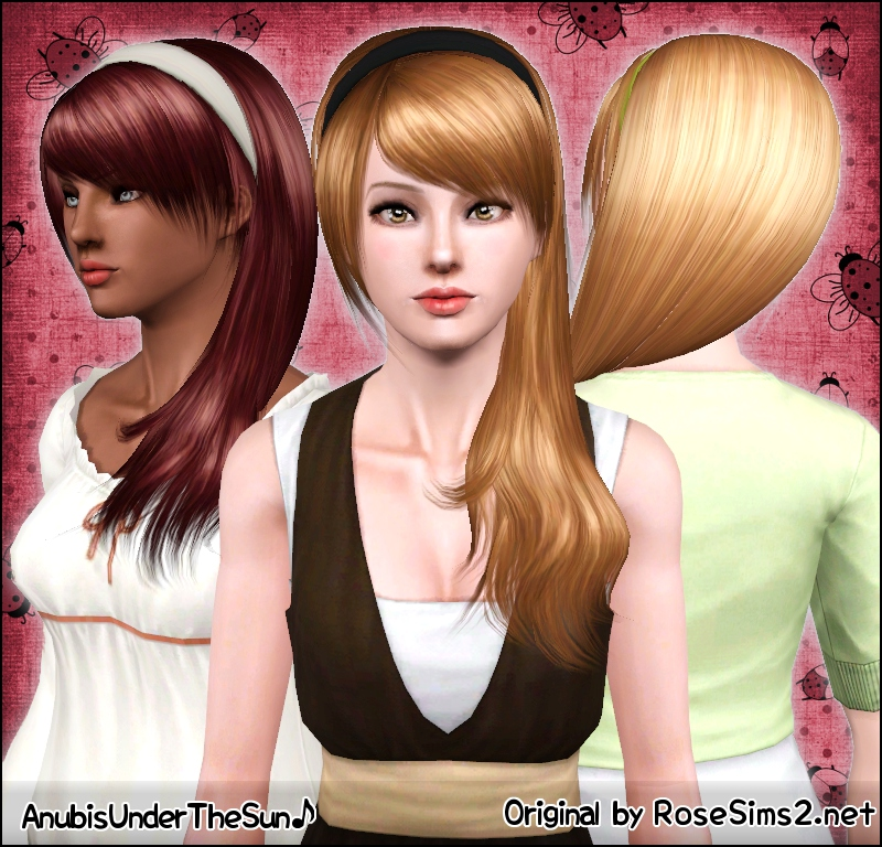 Anubis sims stuff rose donate hair 0080 converted for teen to adjust shine highlights pmusecretfo Image collections