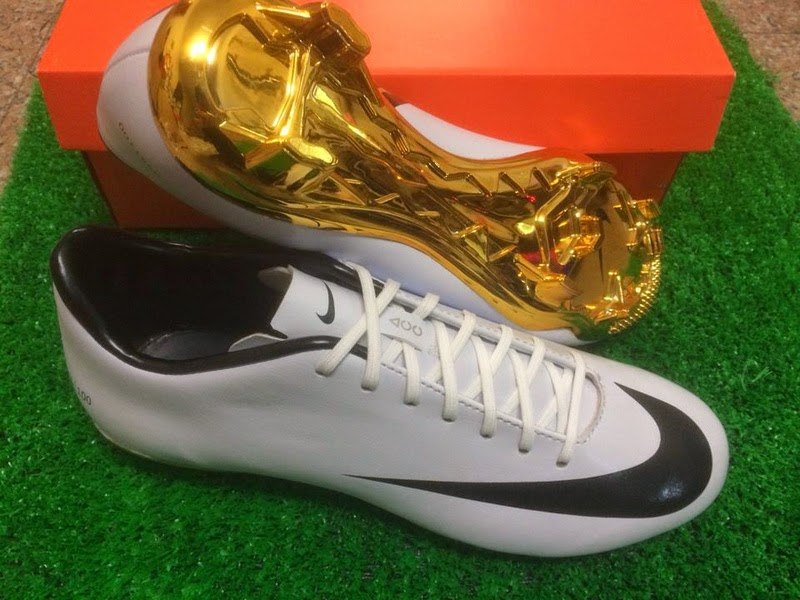 The new Cristiano Ronaldo 2014 Special Edition Boot features an  extraordinary design, with a stunning gold outsole made for the FIFA  Ballon'd'Or winner.