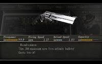 Senjata Handcannon di Cheat Resident Evil PS2